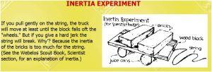 Webelos Inertia Experiment